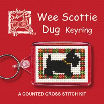 Wee Scottie Dug (Dog)  Keyring Cross Stitch Kit